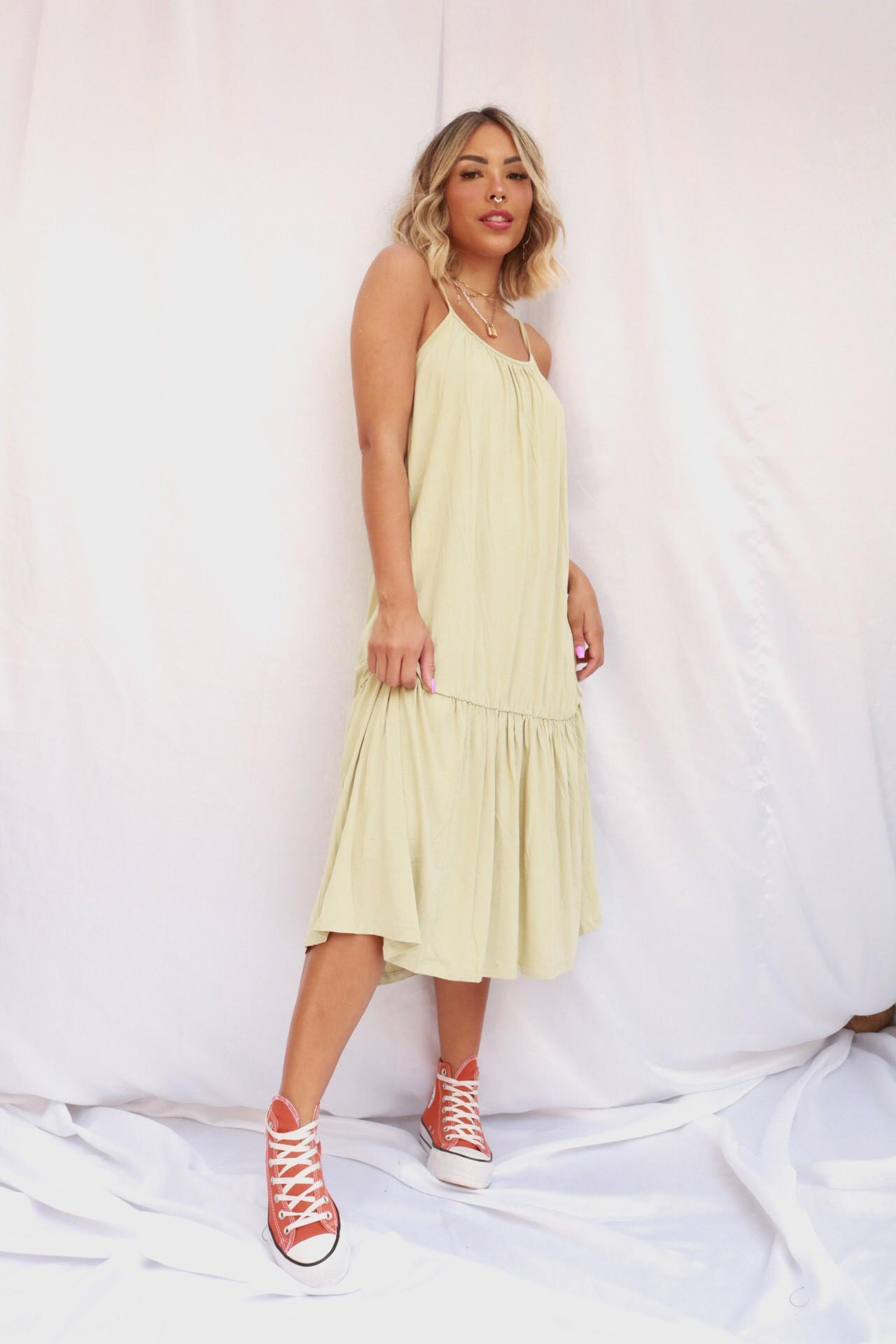 Vestido Midi Alça