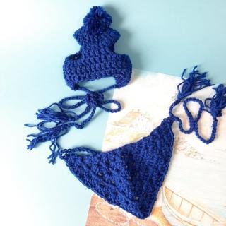 Bandana de tricô Azul Bic