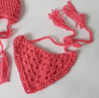 Bandana de tricô Rosa