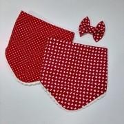 Bandana Minnie Vermelha / Branca