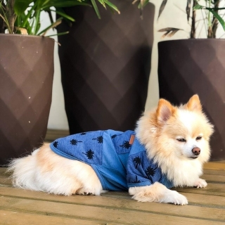 Camisa Tropical Azul