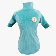 Camiseta Canelada Veludo Verde Agua