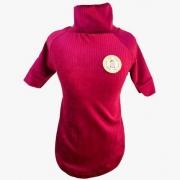 Camiseta Canelada Veludo Vinho