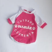 Camiseta Mamãe Ciumenta Rosa Chiclete