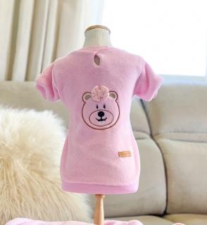 Casaco Mantinha Carinhosa Rosa Bebê