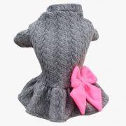 Vestido Soft Tricot Cinza