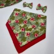 Kit Bandana  Floral Vermelha Dupla