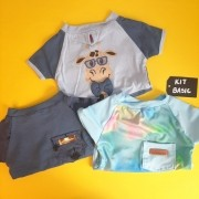 Kit Basic | Macho - Camiseta Rafic + Camisa Tropical + Camisa Tie dye