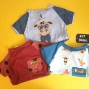 Kit Basic | Macho - Camiseta Rafic + Camisa Tropical + Camiseta Girafinhas