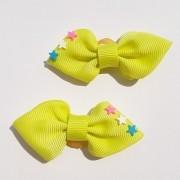 Laço Amarelo Neon Estrelinha