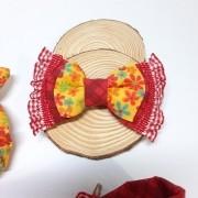 Laço Flowers Amarelo - Faixa Elástica
