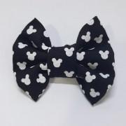 Laço Tradicional Mickey Preto (faixa elástica)