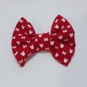 Laço Tradicional Minnie Vermelha (faixa elástica)