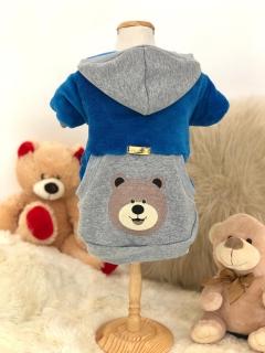 Moletom Ursinho Sorridente Azul