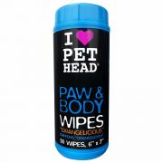 Pet Head Paw & Body Lenços Umedecidos Para Cachorro