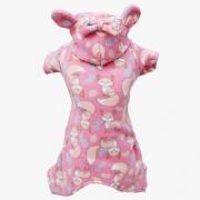 Pijama Macacão Soft Raposa Rosa