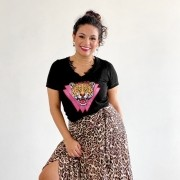 T-shirt Leopardo