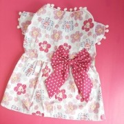 Vestido Flores Pompom