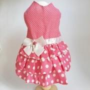 Vestido Poá Rosa