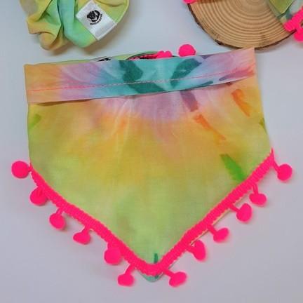 Bandana Tie Dye Rosa Neon