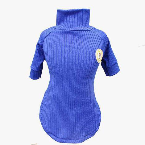 Blusa Canelada Azul Royal