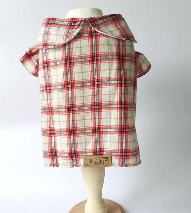 Camisa Boneca Xadrez Vermelho