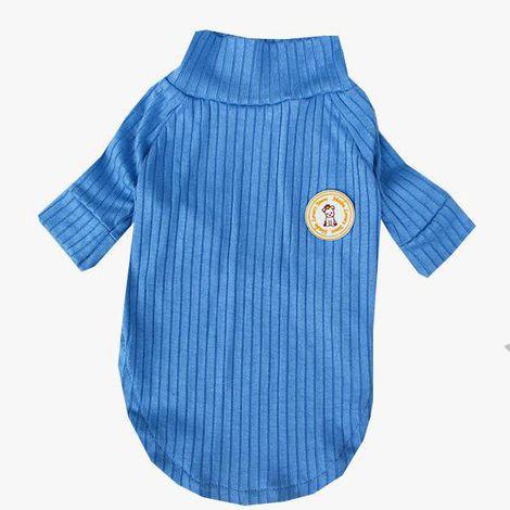 Camiseta Canelada Azul