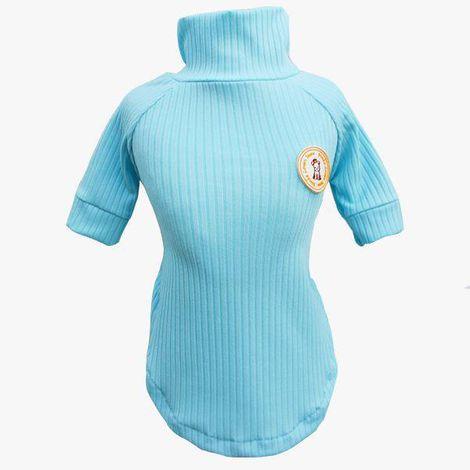 Blusa Canelada Azul Bebe