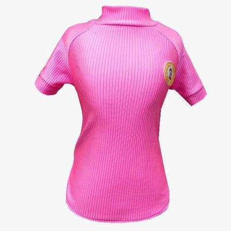 Camiseta Canelada Pink com proteção UV