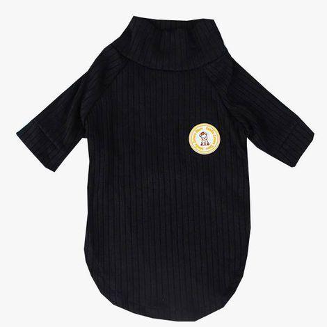 Camiseta Canelada Preta