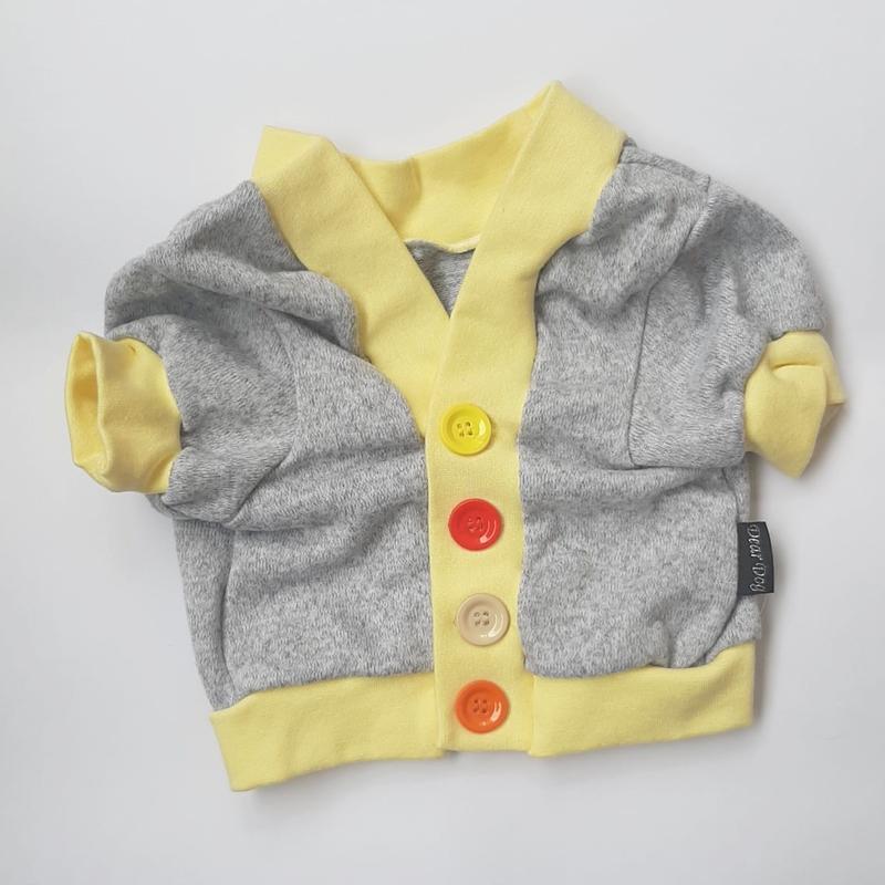 Cardigan em tricô Amarelo Claro