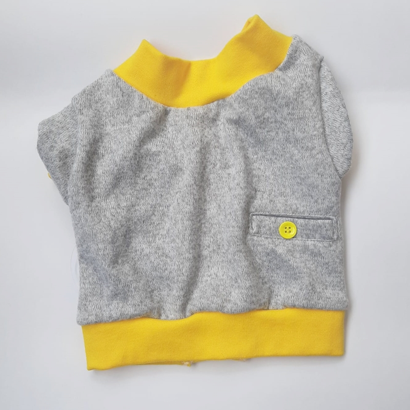 Cardigan em tricô Amarelo Ovo