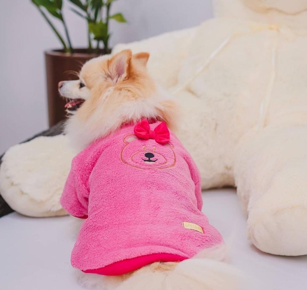 Casaco Mantinha Carinhosa Rosa Pink
