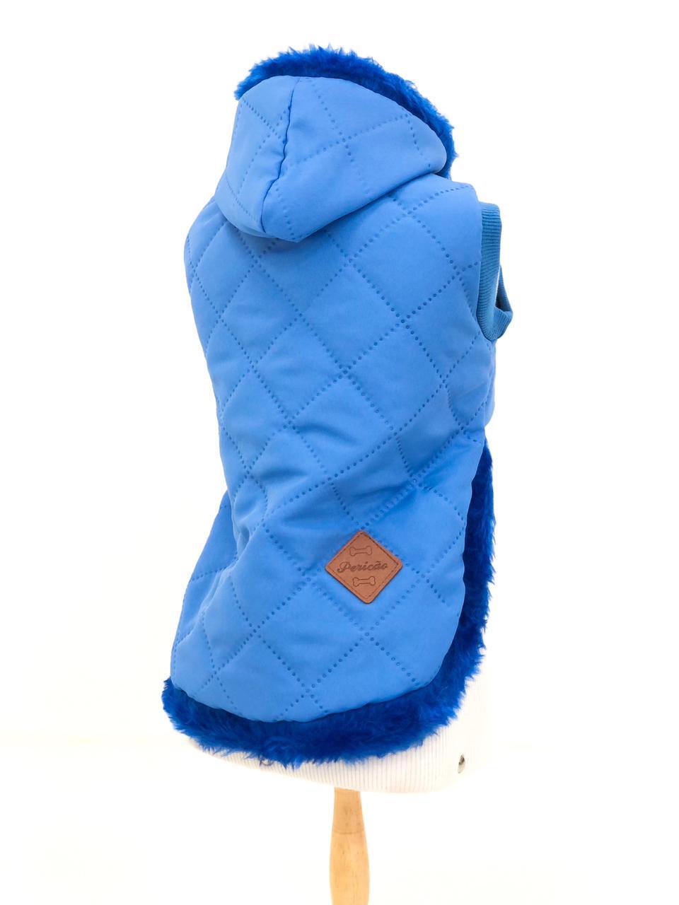 Colete Matelassê Azul