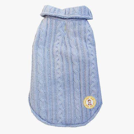 Colete Tricô Azul Bebê
