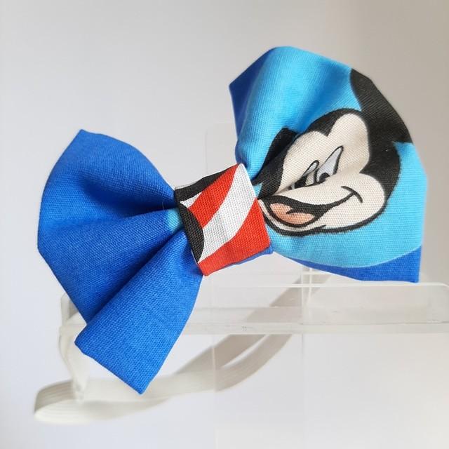 Gravata / Laço Tradicional Mickey Patch (faixa elástica)