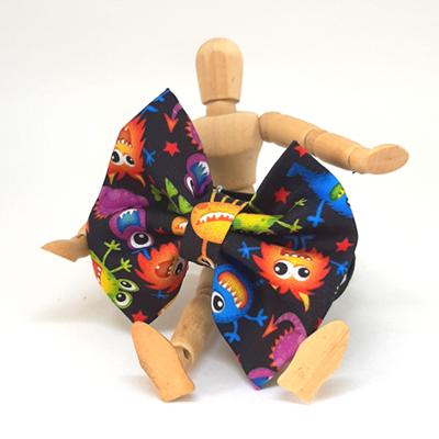 Gravata / Laço Tradicional Monstrinho (faixa elástica)