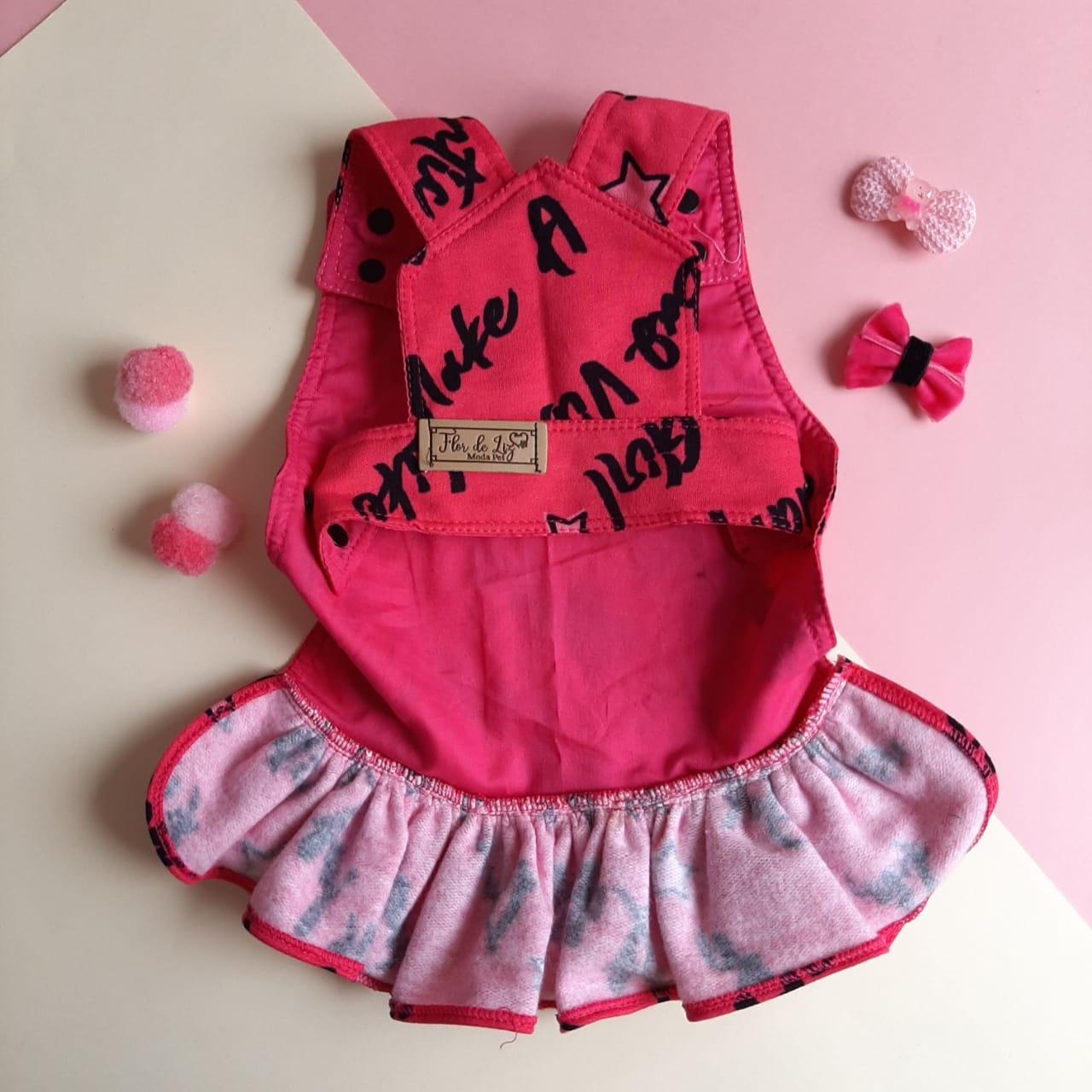 Jardineira Girls Pink