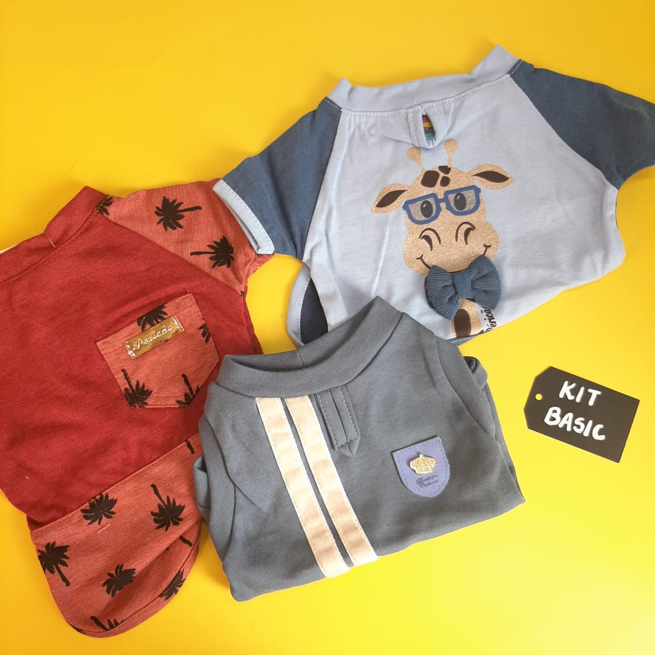 Kit Basic   Macho - Camiseta Rafic + Camisa Tropical + Regata Matte