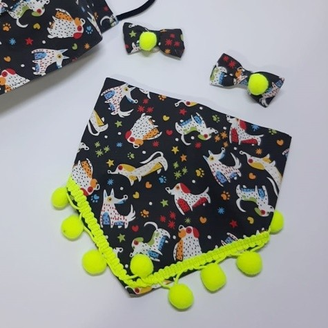 Kit Cachorros - Bandana + Laço