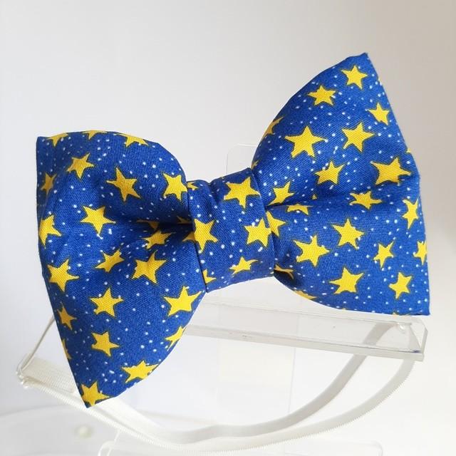Laçarote/Gravata Estrelas Azul