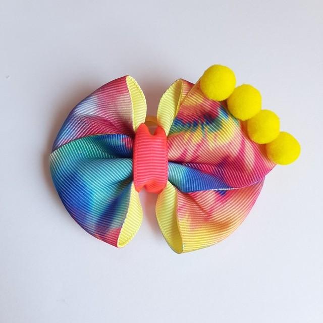 Laço Tie Dye Amarelo