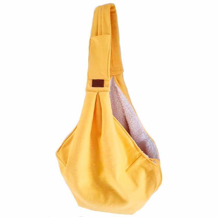Sling Amarelo com pelinho