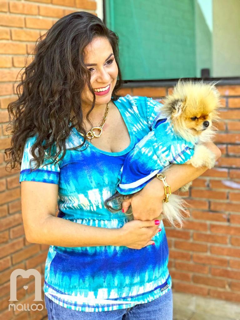 T-shirt Tie Dye Acqua - Mãe