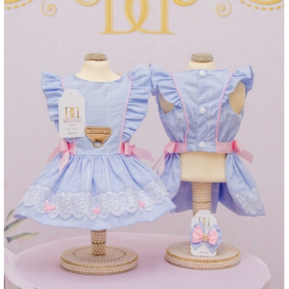 Vestido Doce Infância Azul