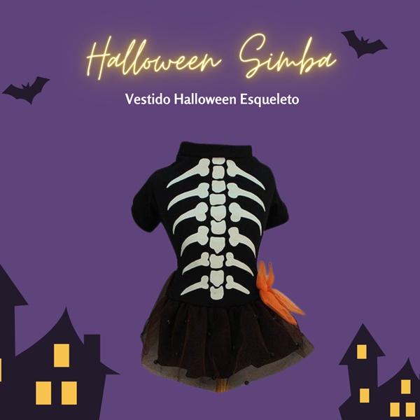 Vestido Halloween Esqueleto