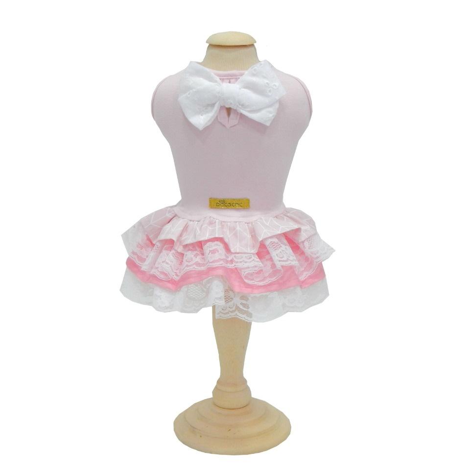 Vestido Malha Pata Chic Monochrome Rosa
