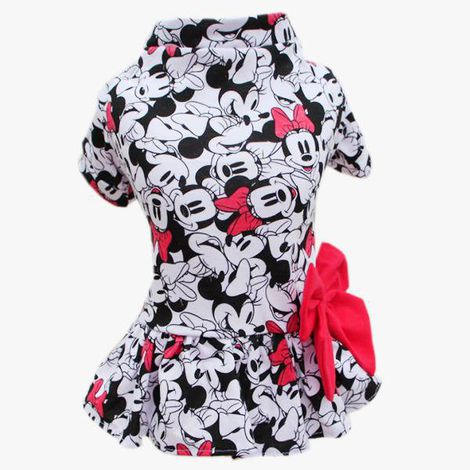 Vestido Minnie Rosa Malha