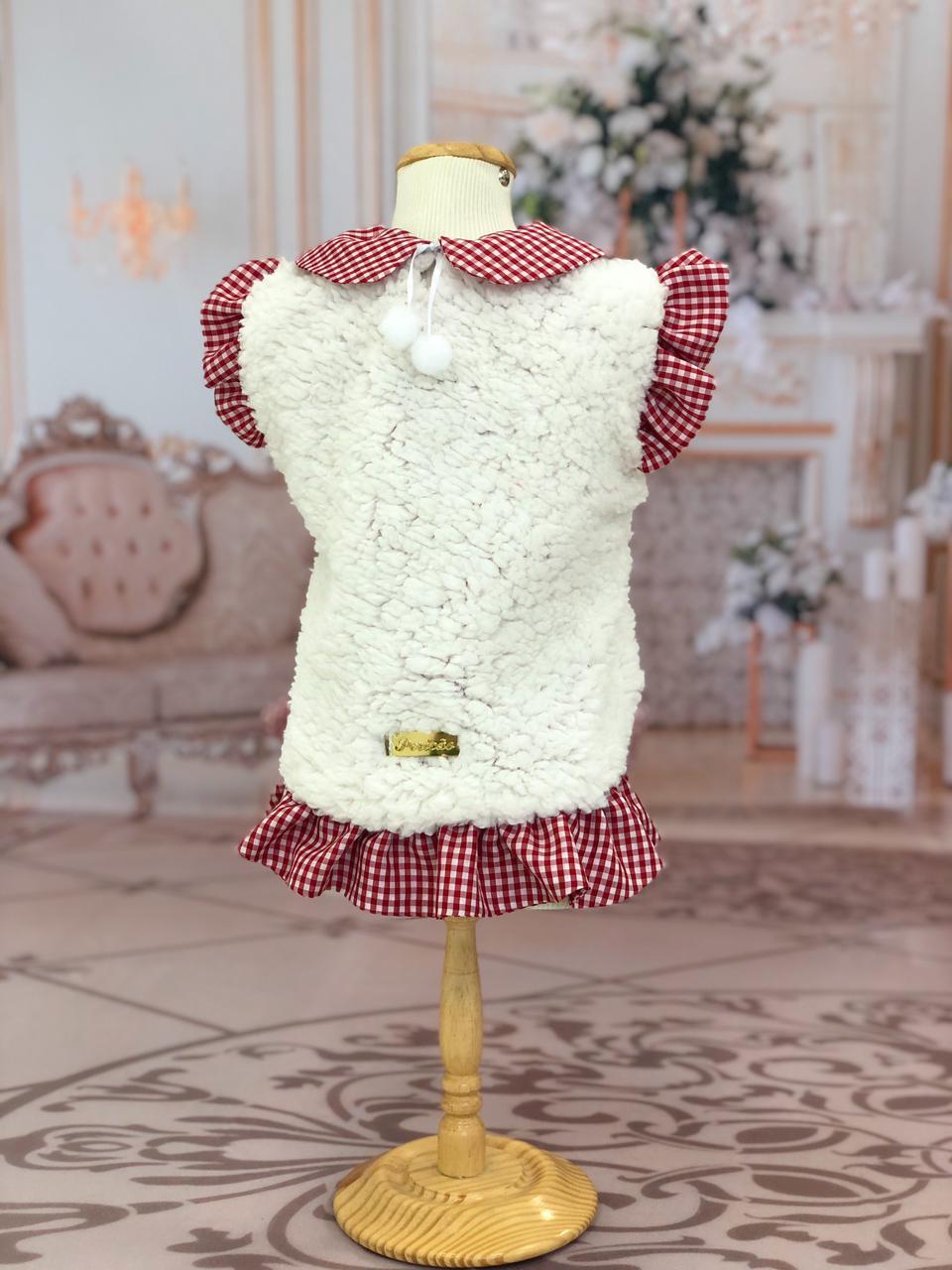 Vestido Pelúcia Xadrez