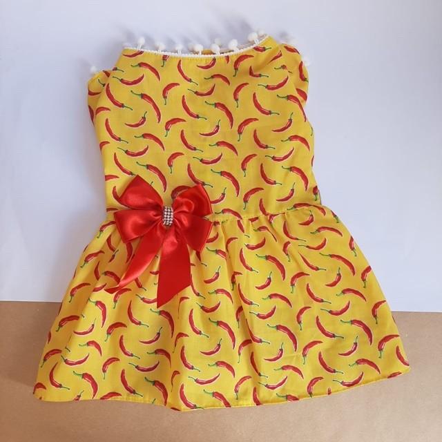 Vestido Pimenta Pompom